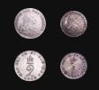London Coins : A155 : Lot 1092 : Maundy Set 1792 ESC 2419 comprising Fourpence NEF toned, Threepence NEF toned, Twopence GVF and Penn...