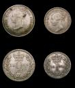 London Coins : A155 : Lot 1115 : Maundy Set 1864 ESC 2475 NEF to EF with some spots
