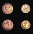 London Coins : A155 : Lot 1119 : Maundy Set 1878 ESC 2491 UNC with some small rim nicks, all four coins with a choice deep golden ton...