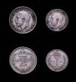 London Coins : A155 : Lot 1132 : Maundy Set 1912 ESC 2529 GEF to UNC with a matching grey tone, the Twopence with a couple of tiny ri...