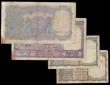 London Coins : A155 : Lot 1876 : India (4) 10 rupees KGVI issued 1937 signed Taylor Pick19a and 10 rupees 1943 Pick24, 1 rupee signed...
