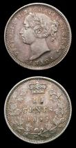 London Coins : A155 : Lot 2193 : Canada 10 Cents (2) 1888 KM#3 VF nicely toned, 1892 KM#3 VF toned