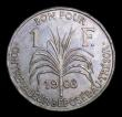 London Coins : A155 : Lot 2230 : Guadeloupe Franc 1903 KM#46 EF with some contact marks, the obverse with some spots