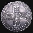 London Coins : A155 : Lot 563 : Crown 1703 VIGO ESC 99 Obverse GVF, Reverse VF or better, with a pleasing grey tone, Ex-Spink