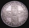 London Coins : A155 : Lot 699 : Crown 1708 Plain in angles ESC 105 About VF/VF with adjustment lines