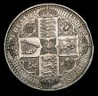 London Coins : A155 : Lot 727 : Crown 1847 Gothic Undecimo ESC 288 VF cleaned, Ex-brooch mount