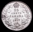 London Coins : A156 : Lot 1120 : Canada 25 Cents 1907 KM#11 EF and scare in this high grade