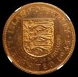 London Coins : A156 : Lot 1292 : Jersey 1/12th Shilling 1945 Liberation, Obverse Elizabeth II (minted 1954) VIP Proof/Proof of record...