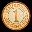 London Coins : A156 : Lot 1301 : Mauritius 1 Cent 1962 VIP Proof/Proof of record KM#31 UNC with some contact marks, retaining almost ...