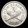 London Coins : A156 : Lot 1327 : New Zealand Threepence 1950 KM#15 UNC