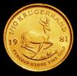 London Coins : A156 : Lot 1361 : South Africa One Tenth Krugerrand 1981 KM#105 Lustrous UNC
