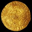 London Coins : A156 : Lot 1726 : Half Noble Henry VI First Reign (1422 - 1461) Annulet Issue (1422 - 1430) annulet by sword hand and ...