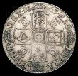 London Coins : A156 : Lot 1841 : Crown 1663 XV ESC Cloak only frosted ESC 26 VG/Fine