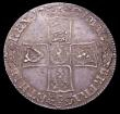 London Coins : A156 : Lot 2187 : Halfcrown 1701 DECIMO TERTIO Plain in angles ESC 564 NEF with pleasing tone and some minor adjustmen...