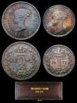 London Coins : A156 : Lot 2430 : Maundy Set 1872 ESC 2485 UNC and with a choice deep and matching tone, the Twopence and Penny with t...