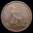 London Coins : A156 : Lot 2510 : Penny 1863 3 over 1 Gouby BP1863Aa dies J+g with the top of the underlying 1 showing at the top righ...