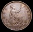 London Coins : A156 : Lot 2513 : Penny 1869 Freeman 59 dies 6+G approaching Fine with all major details clear
