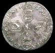 London Coins : A156 : Lot 2572 : Shilling 1697C First Bust, ESC 1096 GVF/VF the reverse with a slightly uneven tone, the obverse with...