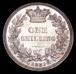 London Coins : A156 : Lot 2671 : Shilling 1839 Second Young Head, No WW ESC 1283 A/UNC