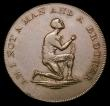 London Coins : A156 : Lot 905 : Halfpenny Middlesex 18th Century Slave Token 'AM I NOT A MAN AND A BROTHER' Kneeling Slave...