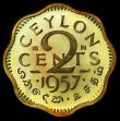 London Coins : A157 : Lot 1360 : Ceylon 2 Cents 1957 VIP Proof/Proof of record KM#124 in a PCGS holder and graded PR66 CAM