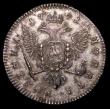 London Coins : A157 : Lot 1596 : Russia Poltina (Half Rouble) 1741 CПБ Ivan VI KM206.2, Bitkin 39, EF the reverse better with a ric...