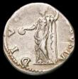 London Coins : A157 : Lot 1746 : Galba.  Ar denarius.  C, 68 AD.  Rev; DIVA AVGVSTA;  Livia standing left, holding patera and scepter...