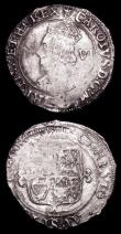 London Coins : A157 : Lot 1954 : Shilling Charles I Group D Third bust, Reverse Oval Garnished shield with CR at sides S.2789 mintmar...