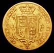 London Coins : A157 : Lot 2312 : Half Sovereign 1866 Marsh 442 Die Number 15 Near Fine