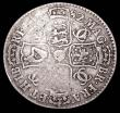 London Coins : A157 : Lot 2366 : Halfcrown 1682 82 over 79 ESC 489B VG with some weakness on the reverse, rated R3 by ESC, Very Rare,...