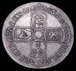 London Coins : A157 : Lot 2371 : Halfcrown 1686 6 over 5 ESC 495 Fine with an edge nick at the top of the obverse, Rare, rated R3 by ...