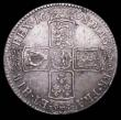 London Coins : A157 : Lot 2419 : Halfcrown 1698 DECIMO ESC 554 with die clashes REX under the G of GVLIELMVS, 8 and M under GRA, and ...