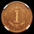 London Coins : A158 : Lot 1044 : British Honduras One Cent 1954 VIP Proof/Proof of record KM#27 in an NGC holder and graded PF65 RB