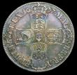 London Coins : A158 : Lot 1795 : Crown 1687 TERTIO ESC 78 Fine or better with some haymarking, once cleaned now almost fully retoned