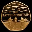 London Coins : A158 : Lot 1867 : Decimal Fifty Pence 2015 75th Anniversary of the Battle of Britain Gold Proof S.H31 FDC