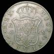 London Coins : A158 : Lot 1874 : Dollar George III Oval Countermark on a Spain 8 Reales 1795S CN (Seville) ESC 135, countermark EF, h...