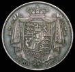 London Coins : A158 : Lot 2202 : Halfcrown 1834 WW in block, ESC 660 NEF/EF toned, comes with old collector's ticket stating ...