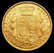 London Coins : A158 : Lot 2728 : Sovereign 1862 Wide Date S.3852D NEF