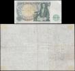 London Coins : A159 : Lot 1508 : Five Pounds O'Brien white note B276 dated 27th July 1955, series A36A 050150, (Pick345), light ...