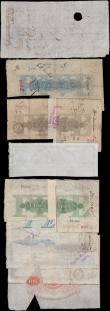 London Coins : A159 : Lot 1568 : British Provincial banknotes (9) Margate Isle of Thanet Bank sight note, Stamford, Spalding & Bo...