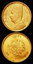 London Coins : A159 : Lot 1989 : Egypt 50 Piastres Gold 1930 (AH1349) KM#353 GVF, 20 Piastres Gold 1930 (AH1349) KM#351 GVF with smal...