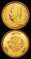 London Coins : A159 : Lot 1990 : Egypt 50 Piastres Gold 1930 (AH1349) KM#353 GVF/NEF, 20 Piastres Gold 1930 (AH1349) KM#351 VF/NEF