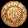 London Coins : A159 : Lot 2003 : French Colonies 10 Centimes 1825A KM#11.1 UNC and with good, slightly subdued lustre, very rare in t...
