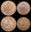 London Coins : A159 : Lot 2219 : Austria (3) 1 Kreuzer (2) 1851A KM#2185 UNC and attractively toned with traces of lustre and minor t...