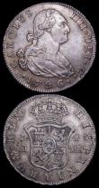 London Coins : A159 : Lot 3399 : Spain 4 Reales (2) 1776 Madrid, mintmark Crowned M, PJ KM#413.1 VF nicely toned, comes with old coll...