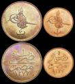 London Coins : A159 : Lot 3486 : Turkey 10 Para (2) AH1255/17 (1856) KM#667.2 UNC and nicely toned, Egypt (2) 10 Para AH1277/9 KM#241...