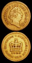 London Coins : A159 : Lot 802 : Half Guinea 1804 S.3737 Fine/Good Fine, Third Guinea 1803 S. Fine, Ex-Mount at the top, the surfaces...