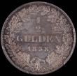 London Coins : A160 : Lot 1119 : Germany Hesse - Homburg Half Gulden 1838 VOIGT PCGS MS64 scarce thus