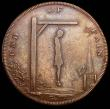 London Coins : A160 : Lot 1702 : Halfpenny 18th Century Middlesex 1793 Spence's DH833 Obverse Hanging Man, Reverse: Book reading...