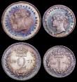 London Coins : A160 : Lot 2325 : Maundy Set 1871 ESC 2483 A/UNC and with a choice and matching multi-coloured tone